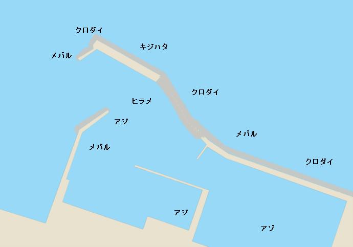 新湊東港ポイント図