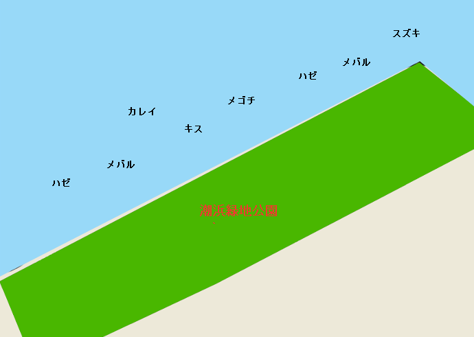 木更津潮浜緑地公園ポイント図
