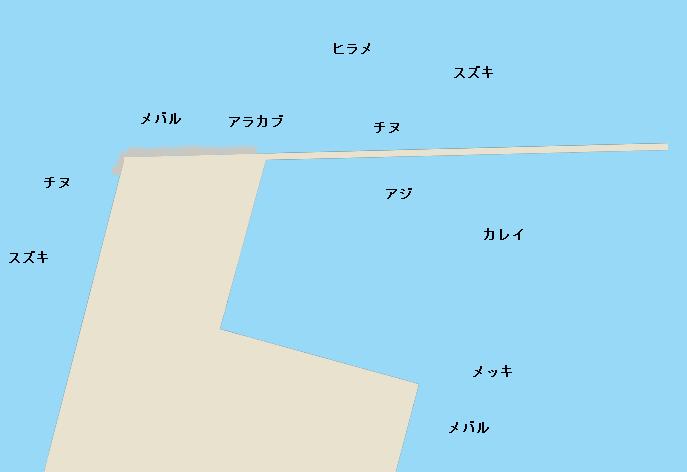 臼杵港ポイント図