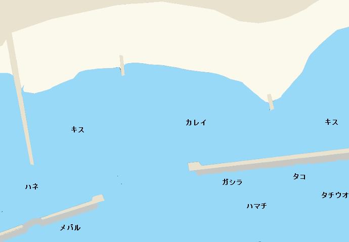 須磨海岸ポイント図