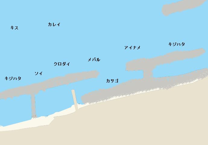 高月海岸ポイント図