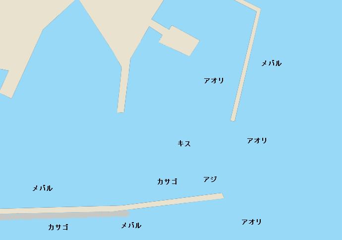 棚底港ポイント図