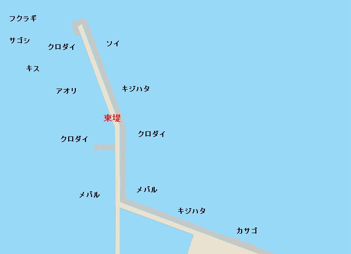 富山新港東堤ポイント図