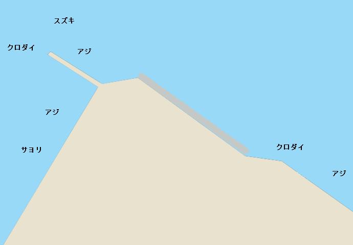 富山新湊(展望台付近)ポイント図