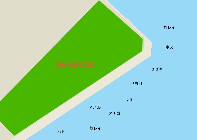 浦安墓地公園ポイント図