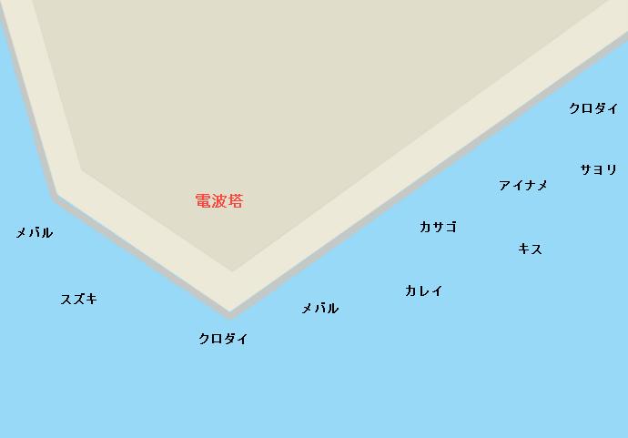 浦安電波塔周辺のポイント