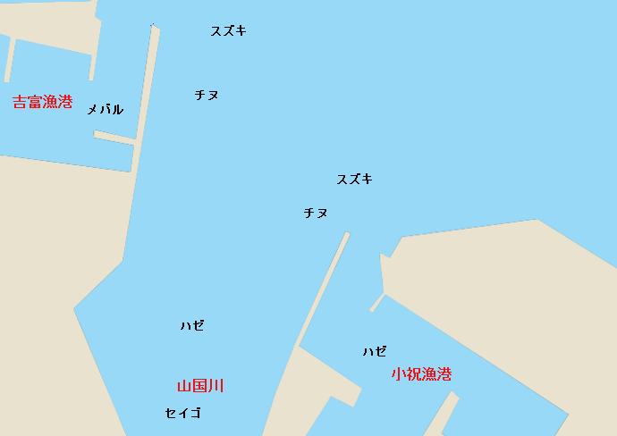 山国川河口ポイント図
