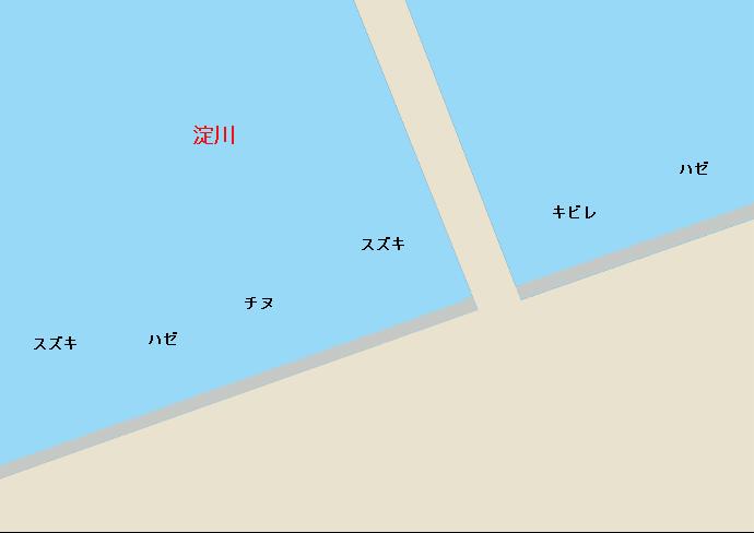淀川河口ポイント図