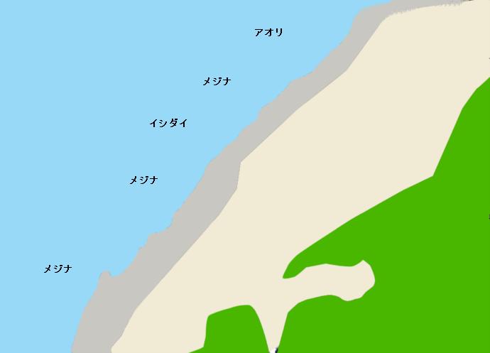 利島前浜ポイント図