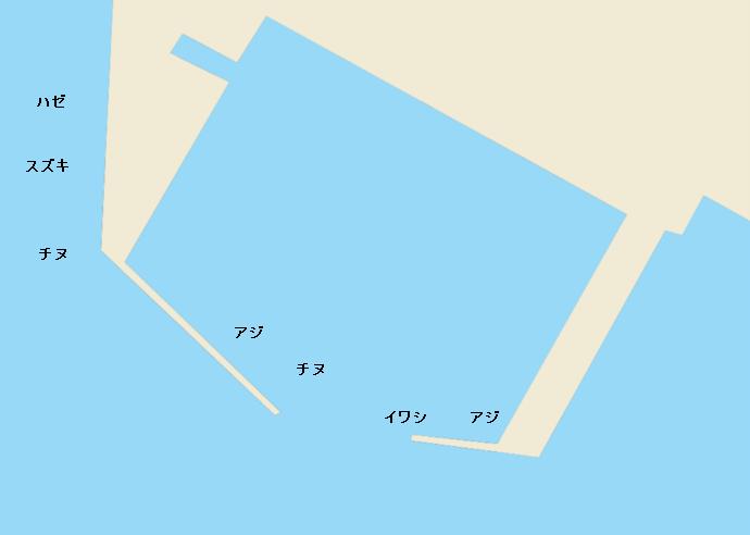 柳津港ポイント図
