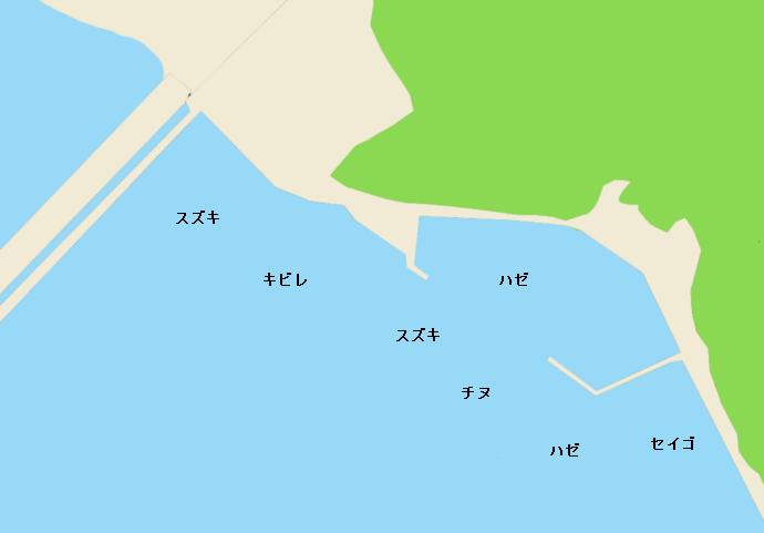 芦田川河口ポイント図
