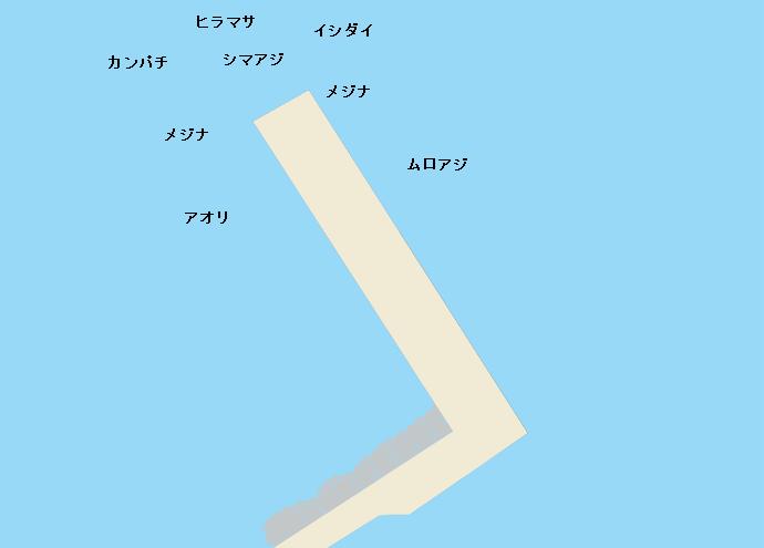 三宅島伊ヶ谷港ポイント図