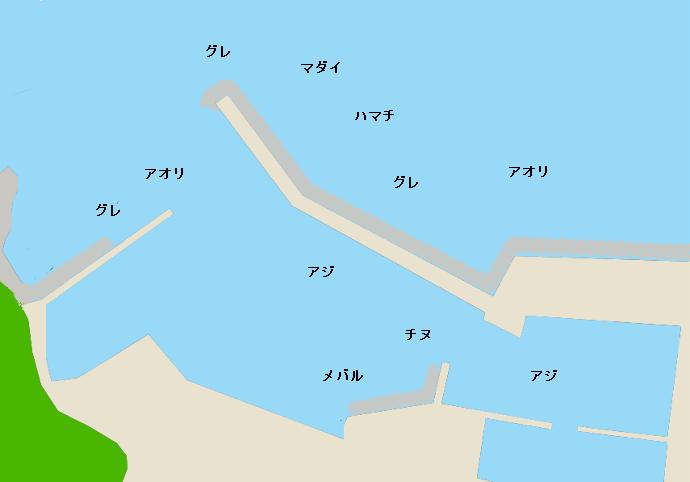 樫野港ポイント図