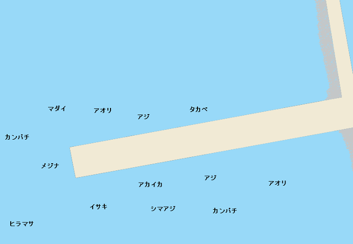 神津島港ポイント図