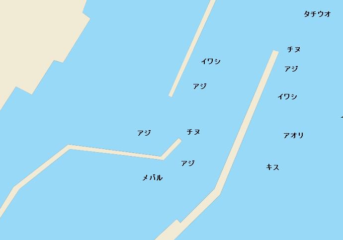 玖波漁港ポイント図