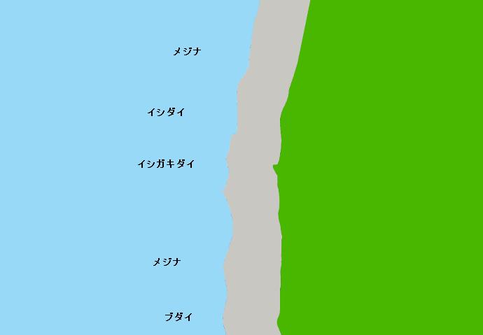 利島黒崎ポイント図