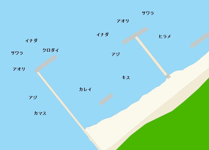 黒井突堤ポイント図