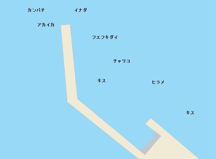 黒根港ポイント図