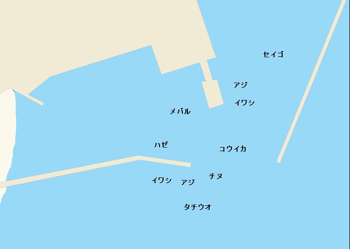 満越港ポイント図