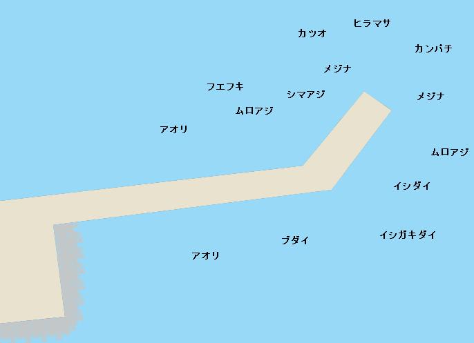 三宅島三池港ポイント図