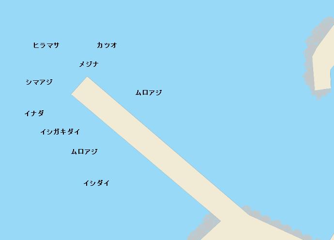 御蔵島港ポイント図