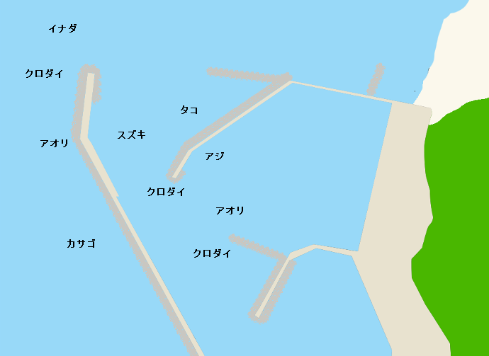 間瀬港ポイント図