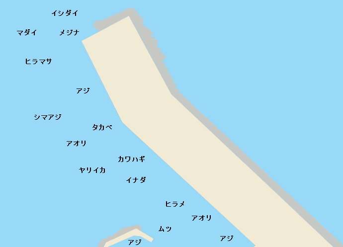 伊豆大島岡田港のポイント