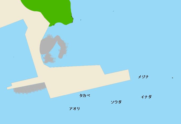 式根島港ポイント図