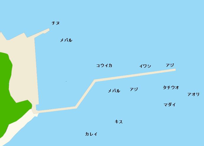 倉橋島須川港ポイント図