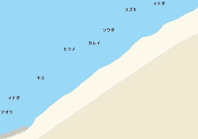 須沢海岸ポイント図