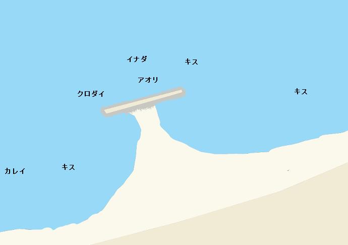 谷浜海岸ポイント図