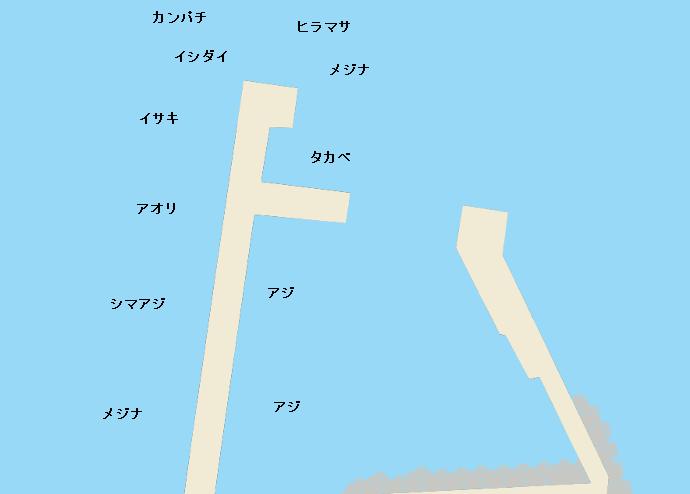 利島港ポイント図