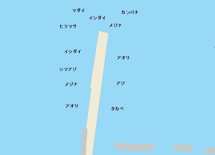 利島桟橋ポイント図