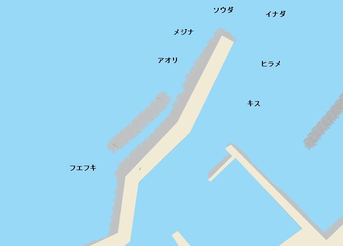 渡浮根漁港ポイント図
