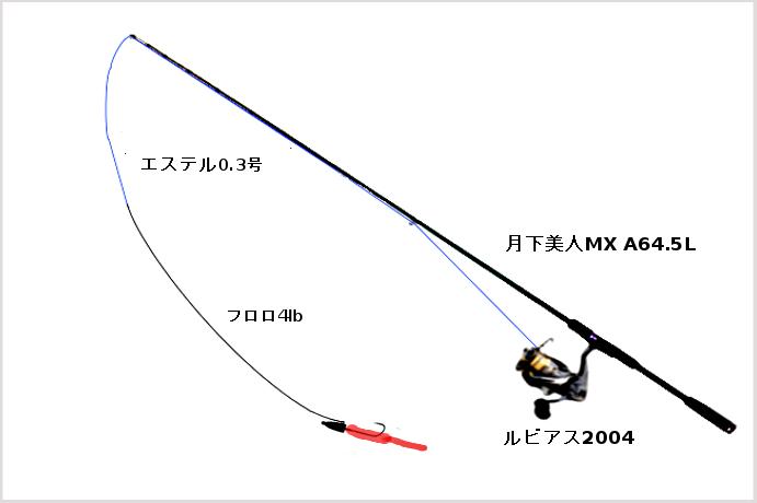 月下美人MX A64.5Lを使う際のタックル