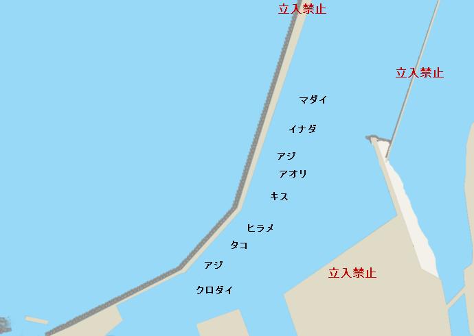 柏崎港ポイント図