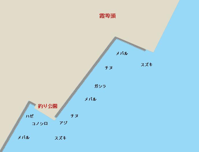 霞埠頭のポイント