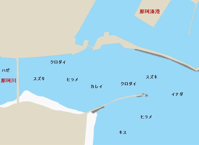 那珂川河口ポイント図