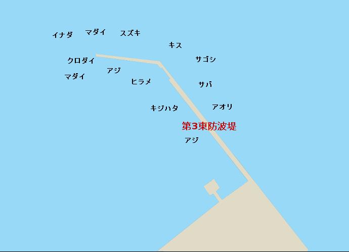 直江津港第3東防波堤ポイント図