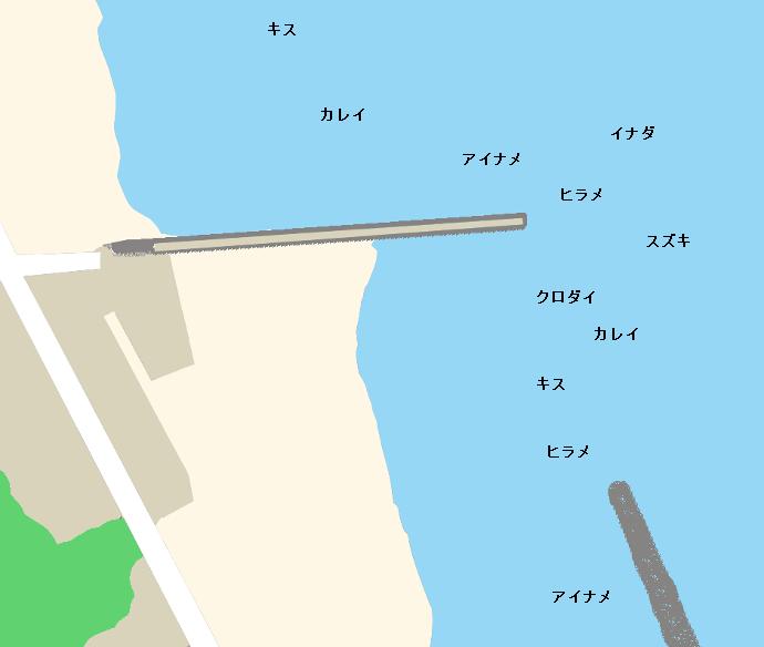阿字ヶ浦海岸ポイント図