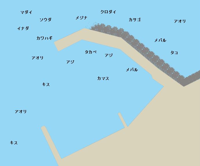 網代港ポイント図