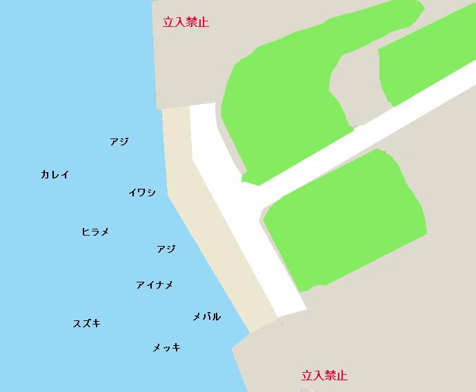 鹿島港アンモニア岸壁ポイント図