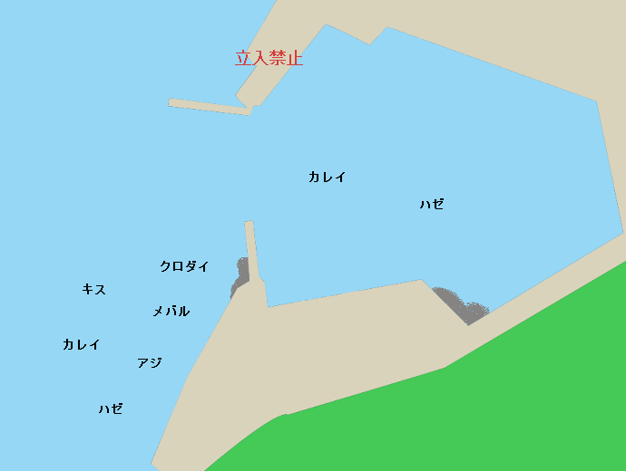 荒井港ポイント図