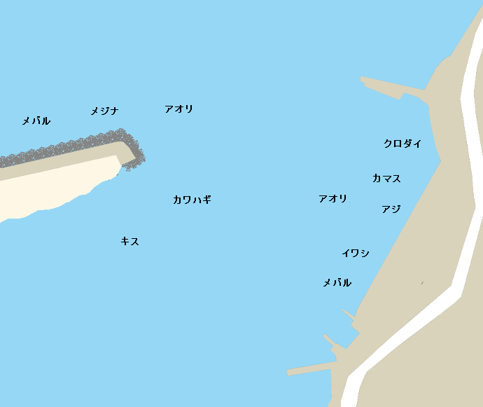 安良里港ポイント図