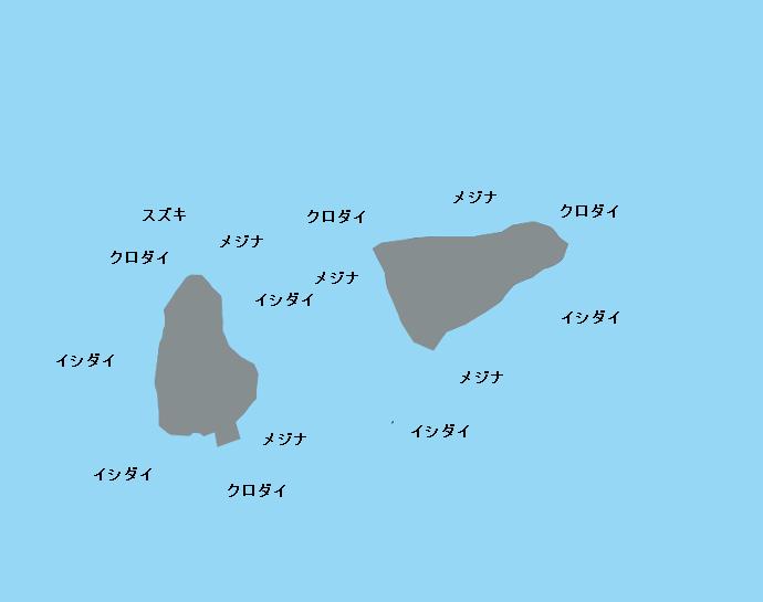 アシカ島ポイント図