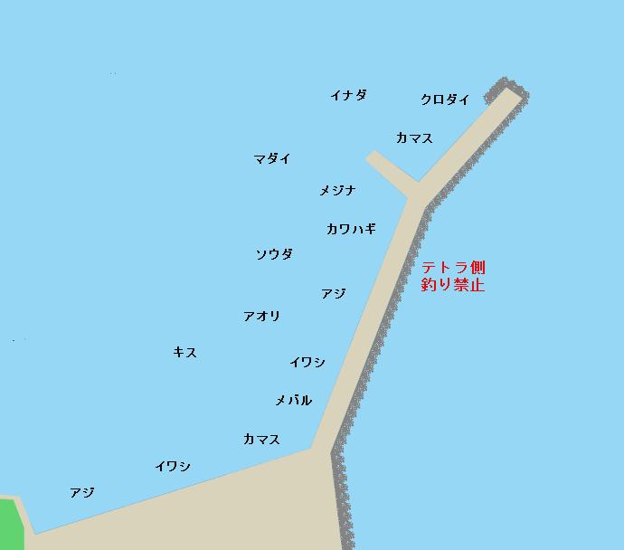 熱海港海釣り施設ポイント図