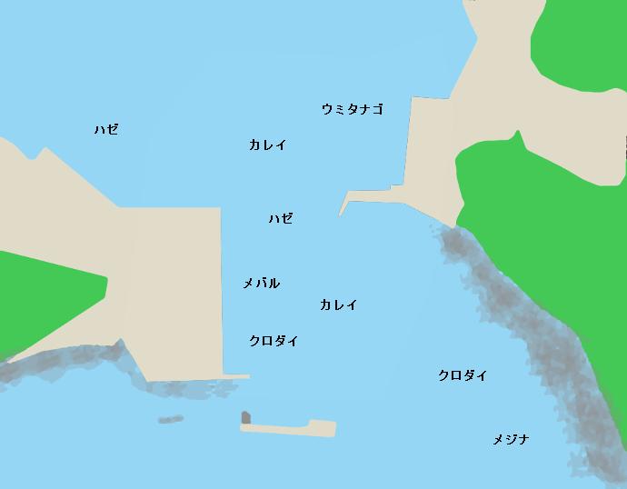 毘沙門港ポイント図