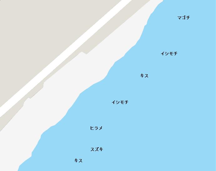 部原海岸ポイント図