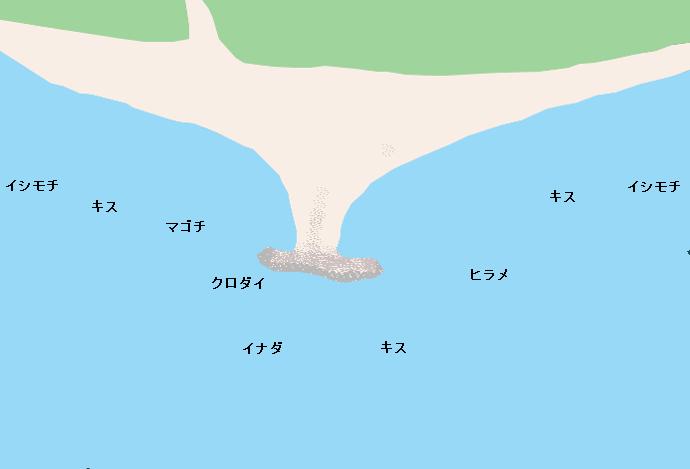 茅ヶ崎海岸ポイント図