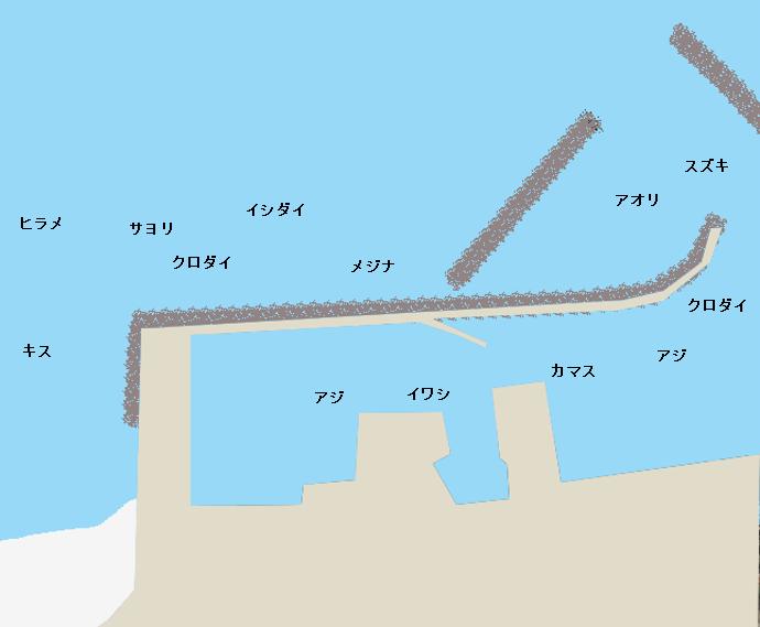 千倉港ポイント図
